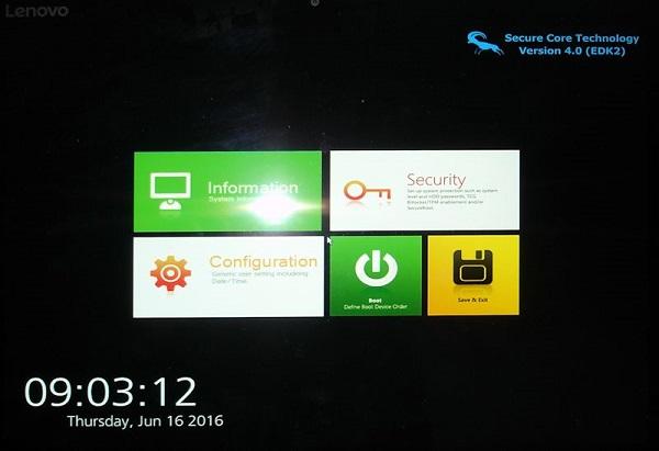 Miix 700 BIOS Setup