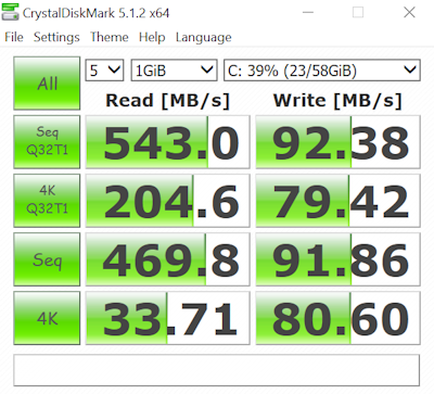 Miix 700 Stock SSD Benchmark CLIPPED