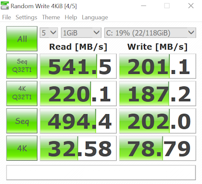 Miix 700 Transcend SSD Benchmark CLIPPED