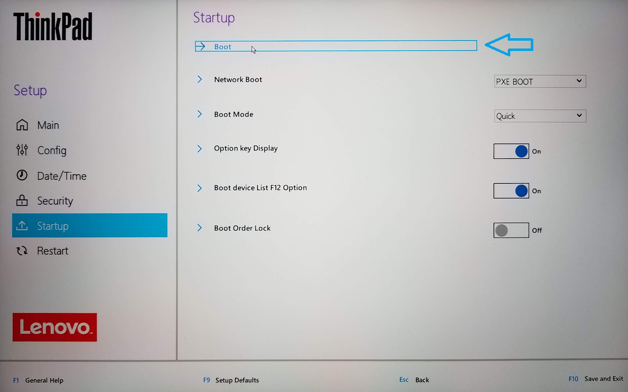 38) Startup, boot options